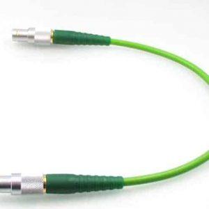 Video HDTV Verbindungskabel 0.6/2.8AF FRNC mit grünen Knickschutztüllen