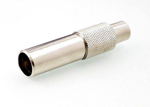 Koax Adapter Stecker 4/13 DIN 47284 auf Buchse 2.5/6 DIN 47296