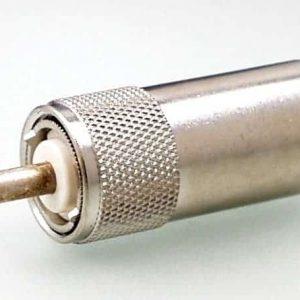 Koax Adapter Stecker UHF auf Buchse 4/13 DIN 47284