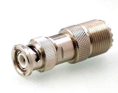 Koax Adapter Stecker BNC 50 Ohm auf Buchse UHF