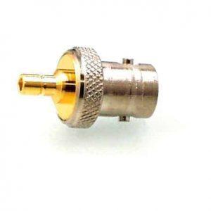 Koax Adapter Stecker SMB auf Buchse BNC 50 Ohm