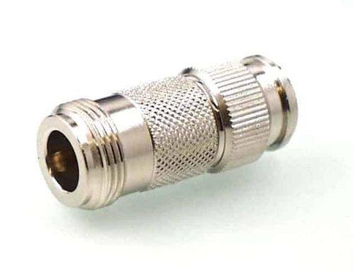 Koax Adapter Buchse N 50 Ohm auf Stecker TNC 50 Ohm