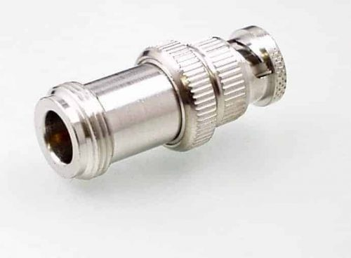 Koax Adapter Buchse N 75 Ohm auf Stecker BNC 75 Ohm