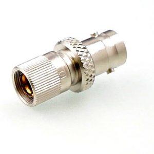 Koax Adapter Stecker 1.6/5.6 DIN 47295 Form A auf Buchse BNC 75 Ohm