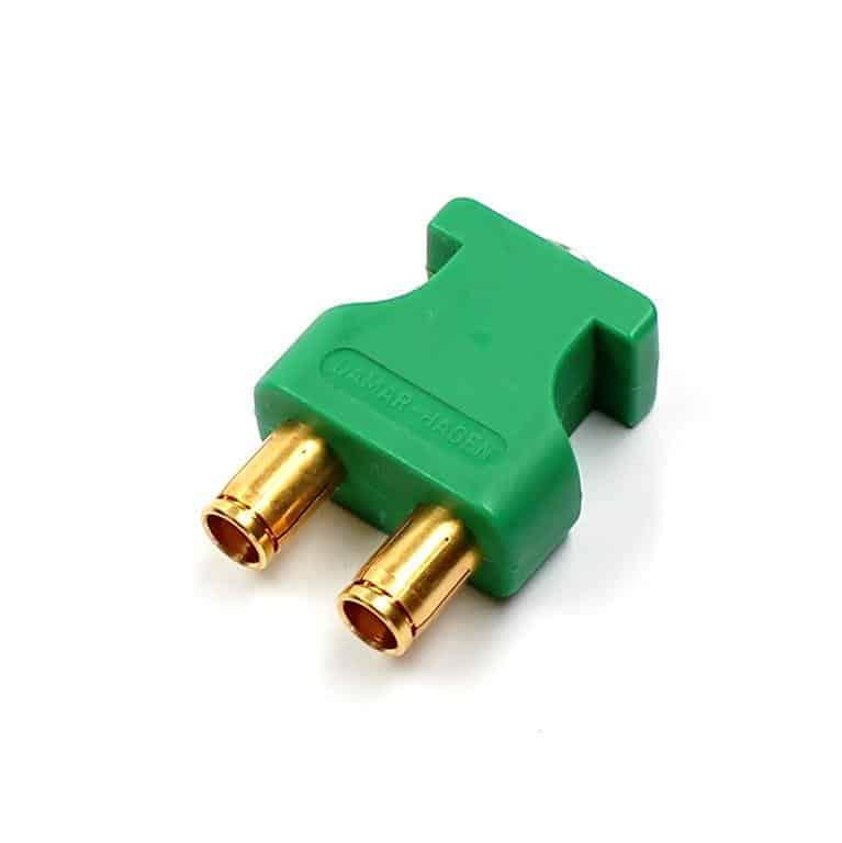 grüner audio triax doppelstecker