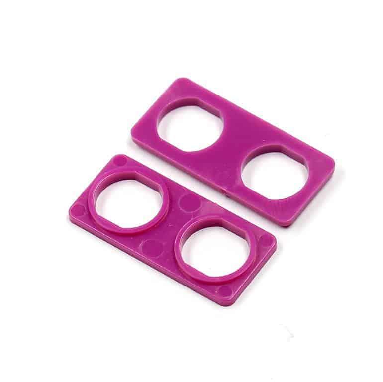 Audio Triax Doppelte Isolierdurchführung violett