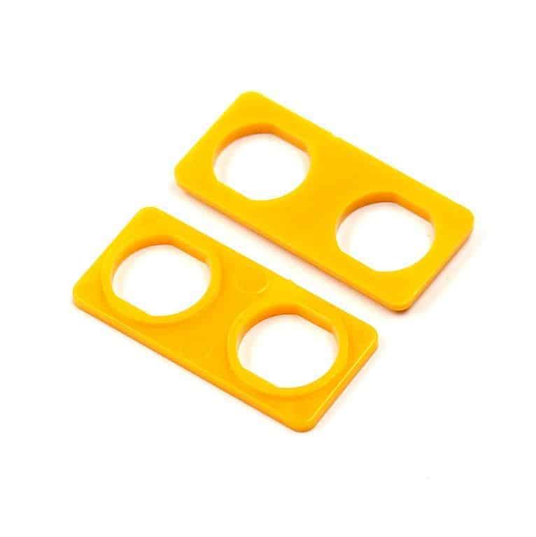 Audio Triax Doppelte Isolierdurchführung gelb