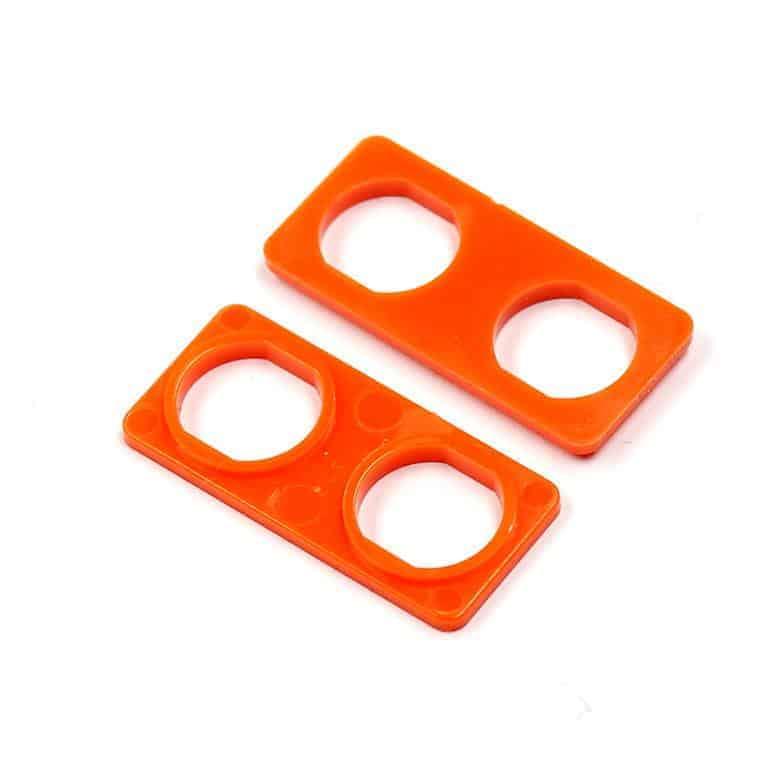 Audio Triax Doppelte Isolierdurchführung orange