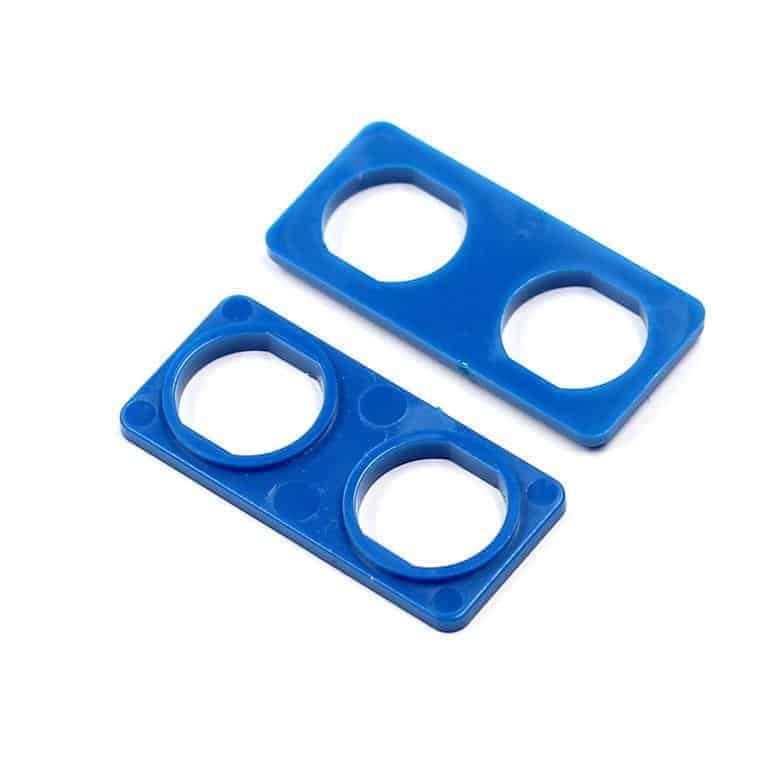 Audio Triax Doppelte Isolierdurchführung blau