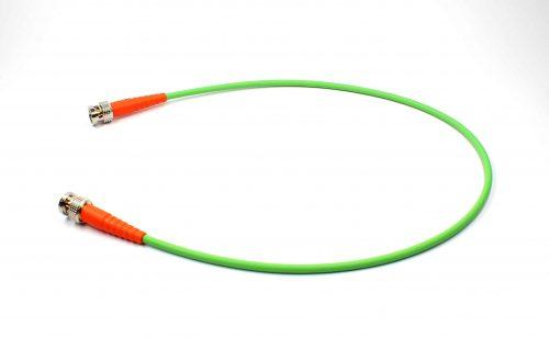 BNCpro Verbindungskabel 0.6/2.8AF FRNC mit orangen Knickschutztüllen
