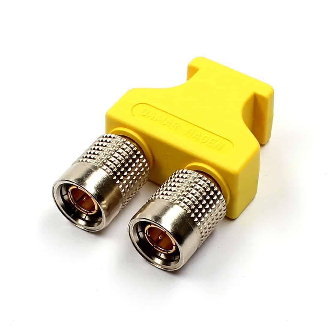 BNCpro Brückenstecker gelb/ Doppelstecker