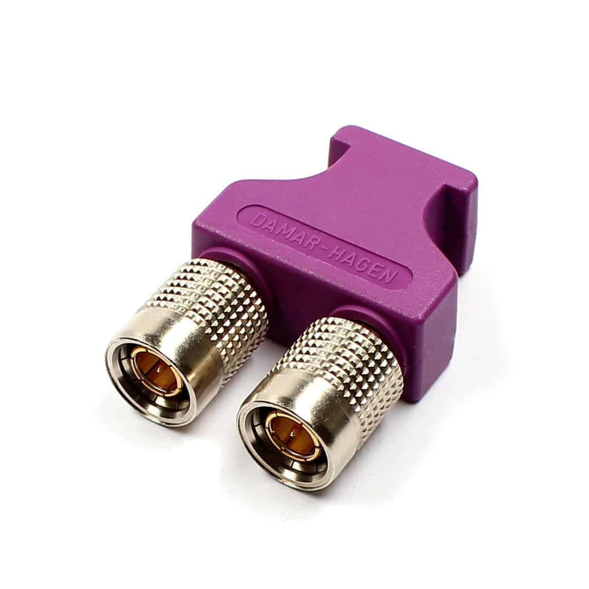 BNCpro Brückenstecker violett/ Doppelstecker 75 Ohm