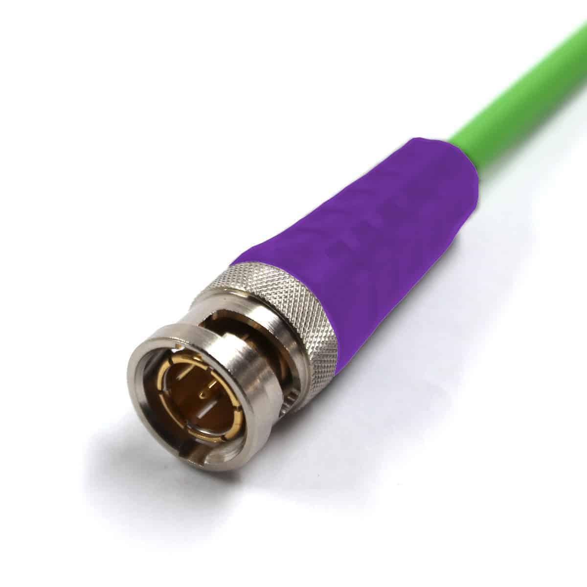 BNC Plug with violet sleeve