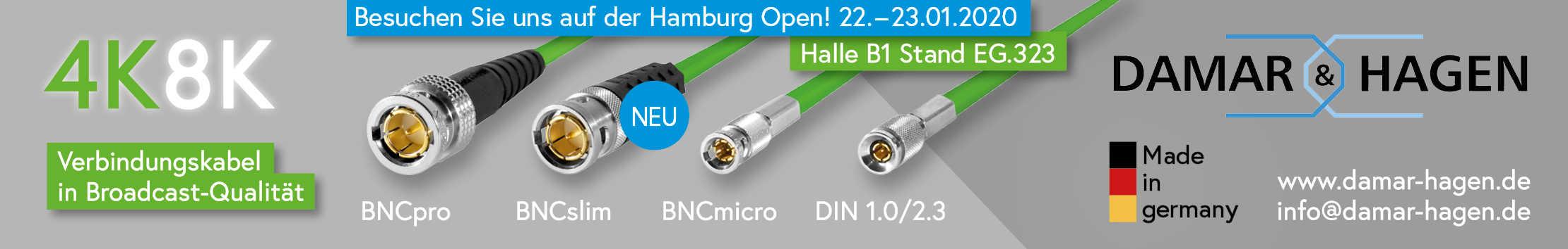 Besuchen Sie uns auf der Hamburg Open 2020