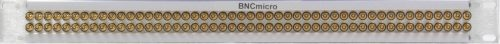Mini BNC Patch Panel Front View