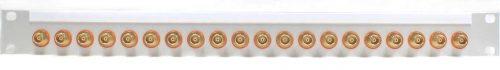 BNCpro Steckfeld 1x20 orange isoliert - Frontseite 1