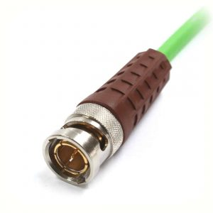 BNCslim Cable Plug with brown rotary sleeve