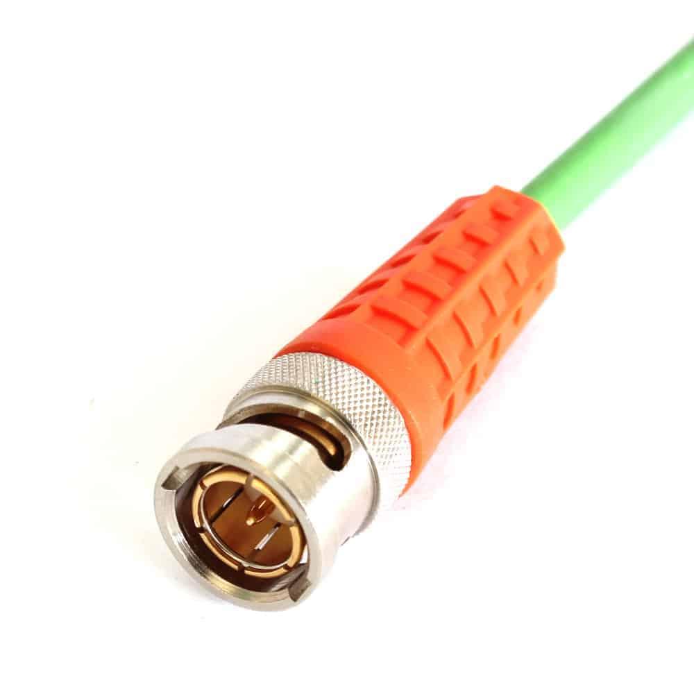 BNCslim Cable Plug with orange rotary sleeve
