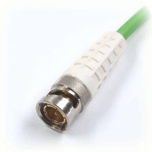 BNCslim Cable Plug with white rotary sleeve