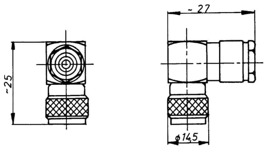 TNC Stecker 50 Ohm