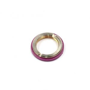 slotted nut for plasic thread with violet colour ring