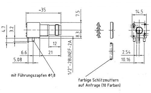 TNC 50 Ohm Gerätebuchse mit Isoliersockel