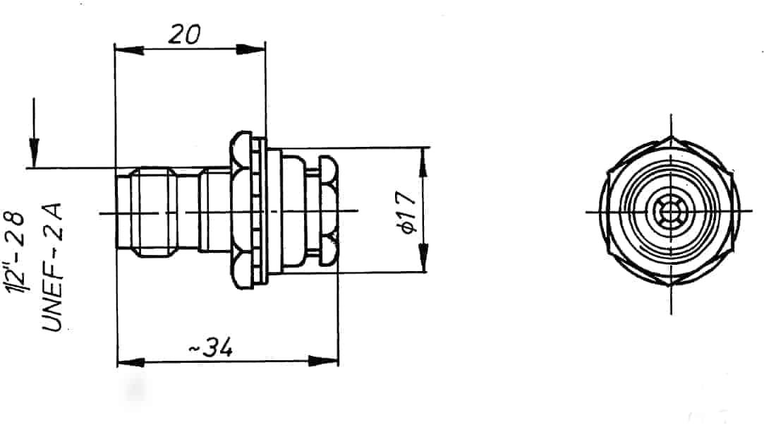 TNC Geräte-Kabelbuchse Löt-/Klemmanschluss