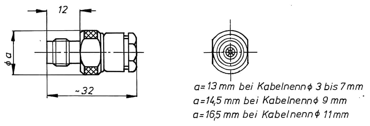 TNC Kabelbuchse Löt-/Klemmanschluss